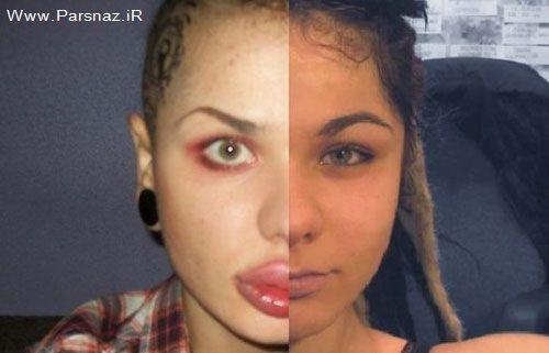 www.parsnaz.ir - عکس های این دختر عجیب که خودش را با عمل جراحی!!