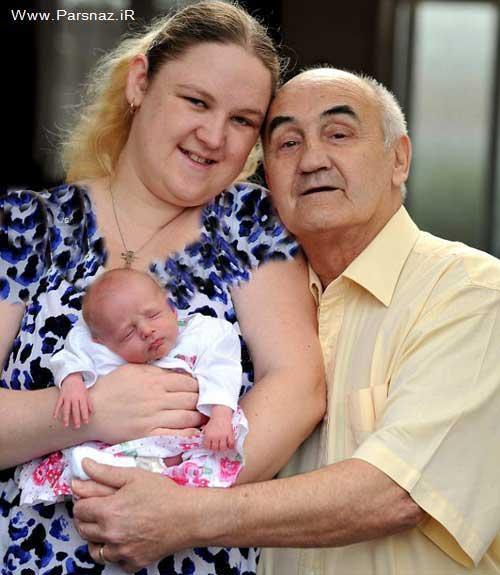 اسپرم 10 ساله آرزوی پیرمرد و زن جوان را برآورده کرد + عکس