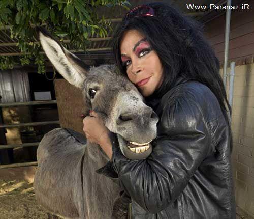 www.parsnaz.ir - ازدواج عجیب این خانم آمریکایی با الاغ + عکس