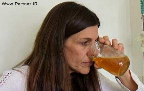 اعتیاد بسیار عجیب این زن به خوردن (نگم بهتره) + تصاویر