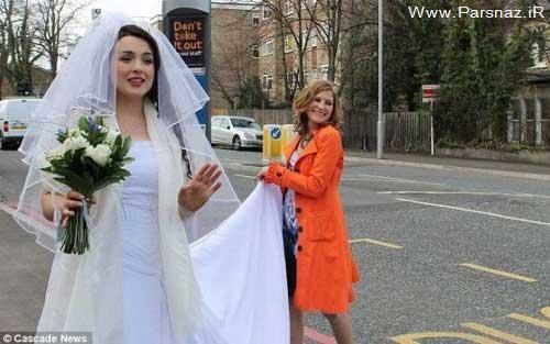 www.parsnaz.ir - شوکه شدن مردم از اقدام جالب عروس اتوبوس سوار +عکس