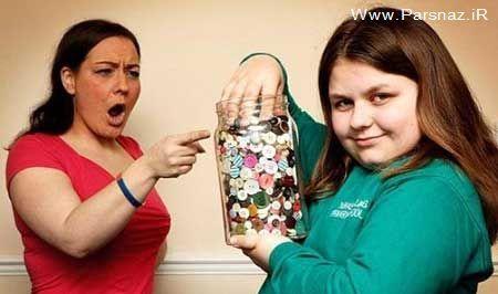 ترس عجیب این خانم از این شی پلاستیکی + عکس