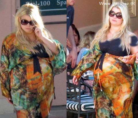 بازیگر باردار هالیوود بخاطر وزن زیادش سوژه عکاسان شد