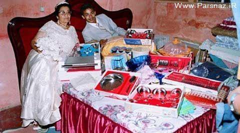 ازدواج جوان 25 ساله با مادر بزرگ 80 ساله اش + عکس