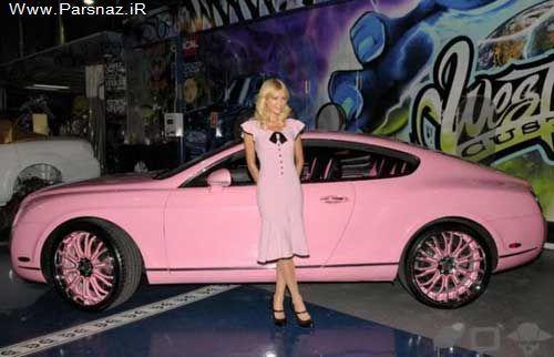 بازیگر و مدل زیبای آمریکایی با خودرو مورد علاقه اش