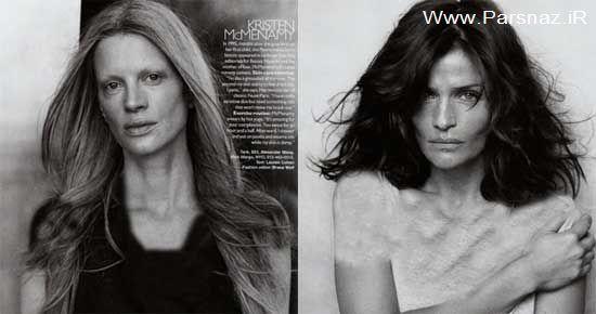 عکس های مشهور ترین سوپر مدل های زن بدون آرایش و گریم