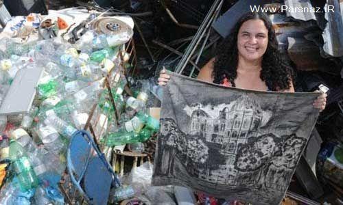 www.parsnaz.ir - زندگی عجیب این خانم در زباله ها تا قبولی در دانشگاه +عکس