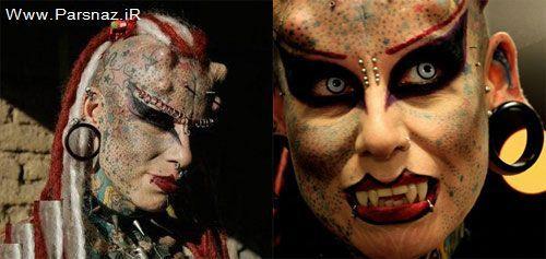 این زن عجیب که تبدیل به خون آشام شد + عکس