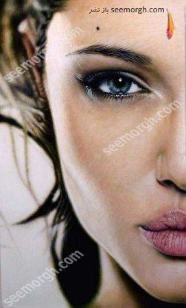 نمای نزدیک صورت آنجلیناجولی (عکس)