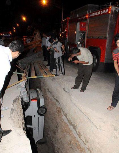 عجیب ترین سقوط اتومبیل در مشهدwww.parsnaz.com