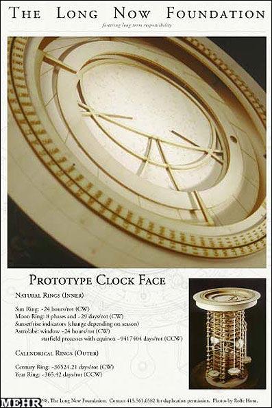 ساعت عجیبی که سالها را نشان میدهد + تصاویر