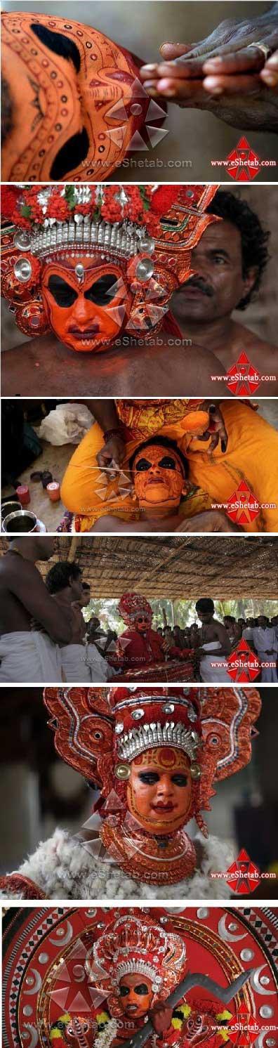 تصاویری از آرایش عجیب زنان و مردان هند..!
