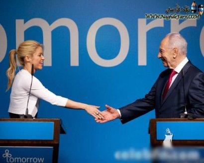 روبوسی شکیرا با رئیس جمهور اسرائیل (+تصویر)