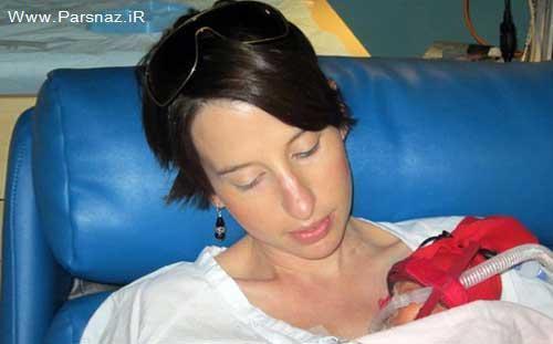 فداکاری یک مادر مهربان برای به دنیا آوردن فرزندش + عکس
