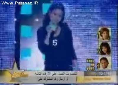 هیفا وهبی خواننده زیبا در اجرای کنسرت بر روی زمین خورد