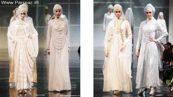 عکس وتصاویر هفت مدل از لباس های جدید عروس اسلامی بسیار شیک وزیبا +باکلاس