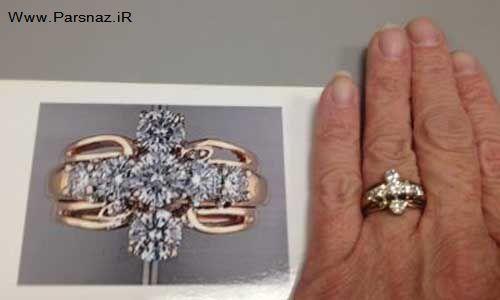 اتفاقی شبیه به معجزه برای حلقه ازدواج این خانم! + عکس