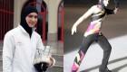 اولین دختر با حجاب در مسابقات اسکیت روی یخ + عكس
