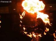 عکس های دیدنی از دختران در جشن رقص آتش