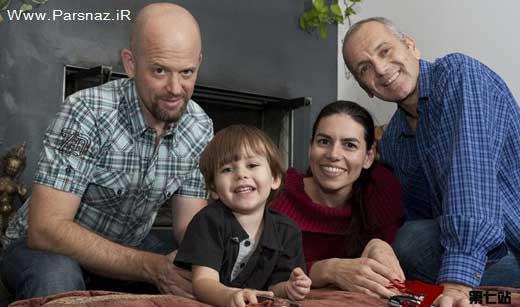 تصاویر باورنکردنی زندگی همزمان زنی با دو شوهر