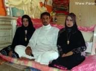 ازدواج عجیب و همزمان این پسر عرب با دو دختر جوان +عکس