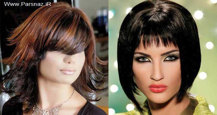 تناسب مدل آرایش مو و مدل آرایش صورت + عکس