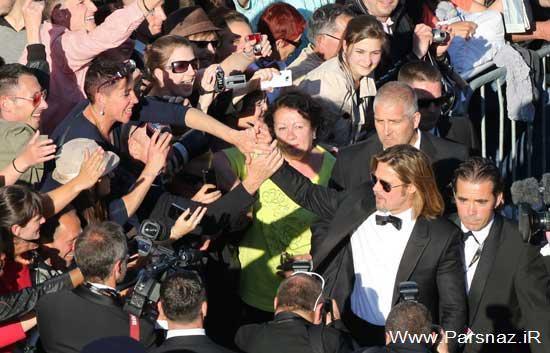 براد پیت بدون حضور آنجلینا جولی در مراسم فرش قرمز +تصاویر