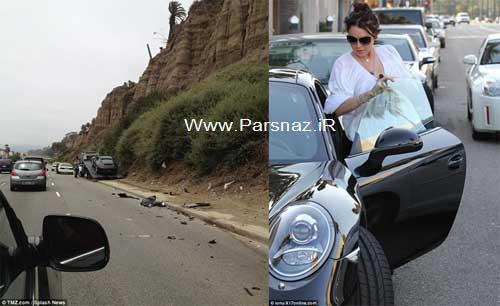 تصادف شدید بازیگر جنجالی هالیوود در لوس آنجلس + عکس