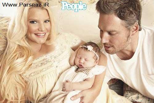 www.parsnaz.ir - جسیکا عکس نوزادش را به قیمت 800000 دلار فروخت +عکس