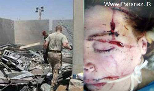 حادثه تلخ برای یکی از زنان ارتش انگلیس در عراق + عکس