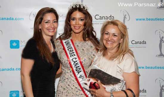 این دختر جذاب ایرانی ملکه زیبایی کانادا شده است + تصاویر