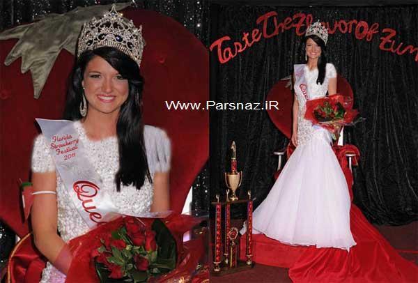 دختری که ملکه زیبایی جشنواره توت فرنگی شد + عکس