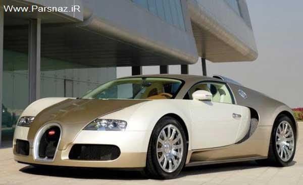 عکس هایی از ماشین بوگاتی طلایی در اروپا جنجال به پا کرد