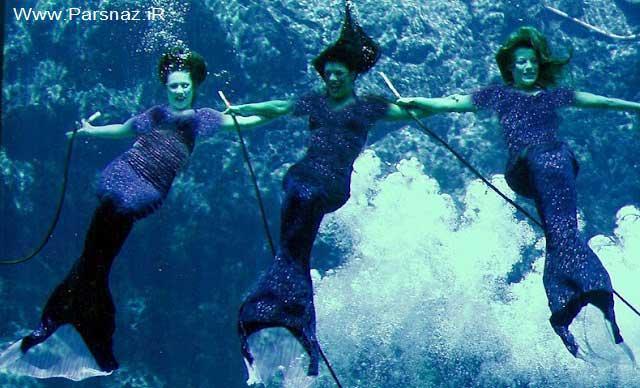 رقص پری های دریایی واقعی مردم را شگفت زده کرد + تصاویر