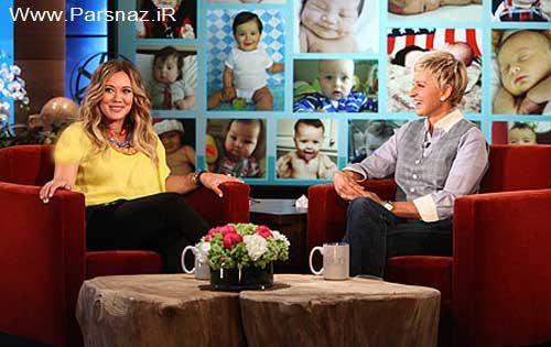 بازیگر زن مشهور مهمان برنامه Ellen از مادر شدنش می گوید