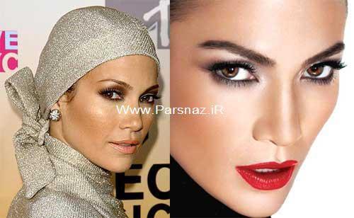 آرایشگر جنیفر لوپز راز زیبایی او را فاش کرد، قبل و بعد از آرایش