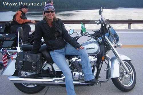ماجرای عجیب توپ گلف و دندانهای شکسته این زن موتورسوار