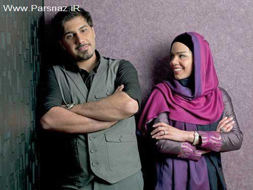 احسان خواجه امیری و همسرش درباره ازدواجشان + عکس