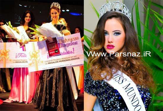 عکس هایی از زیباترین دختر شایسته آرژانتین در سال 2012