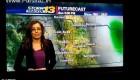 فحش دادن خانم گزارشگر و فرار در برنامه زنده + عکس
