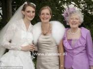 سه نسل از دخترهای یک خانواده با یک لباس عروس + تصاویر