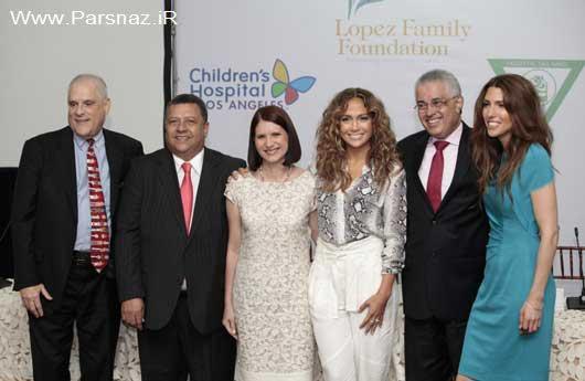 اهدای کمکهای خیریه جنیفر لوپز به بیمارستان کودکان +عکس