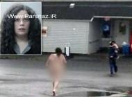 برهنه شدن این خانم در خیابان بعد از تنبیه پسرش + عکس