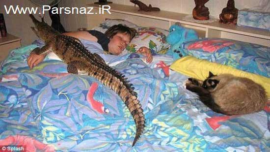 این خانم به خاطر یک تمساح از همسرش جدا شد + تصاویر