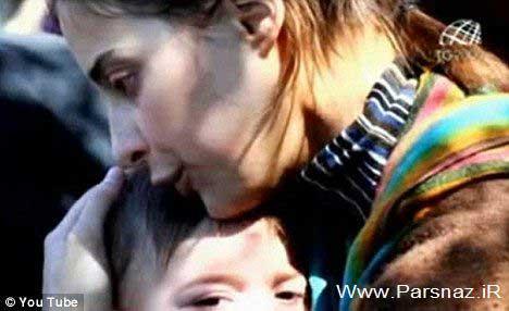 شهامت و فداکاری این خانم جوان برای نجات فرزندش + عکس