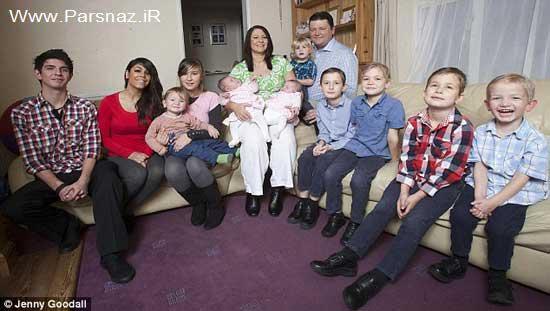این خانم 37 ساله 12 فرزندش را باردار است + عکس