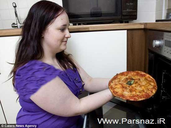 این دختر 8 سال است که فقط غذا پیتزا می خورد + عکس