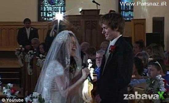 شوکه شدن آقا داماد از کار جالب این عروس عاشق + عکس