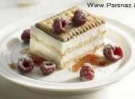 طرز درست کردن کیک بستنی بیسکویتی