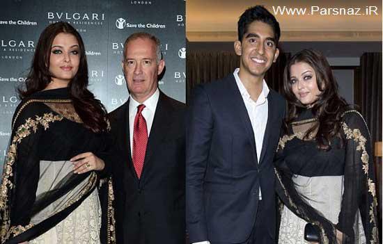 آیشواریا رای بازیگر زیبا در افتتاحیه هتل (Bulgari) در لندن